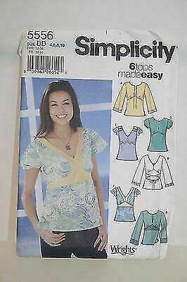 Simplicity 5556 Misses/' Pullover Tops with Variations     Sewing Pattern