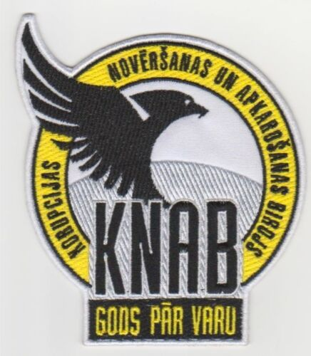 LATVIA PATCH Corruption Prevention and Combating Bureau KNAB FREE SHIPPING