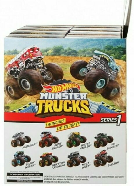 Hot Wheels Monster Trucks Series 1 Complete Set 8 Mini Key Launch Stickers For Sale Online Ebay