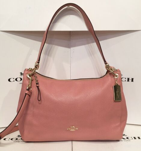 Coach F28966 Vintage Pink Pebbled Leather Mia Conv