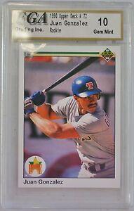 Sports Trading Cards Sports Mem, Cards & Fan Shop 1990 Rookie Juan Gonzalez Rangers Upper Deck Baseball Card 31500