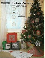 Net Lace Darning Christmas Ornaments & Pillows Design Chart Patterns 1984