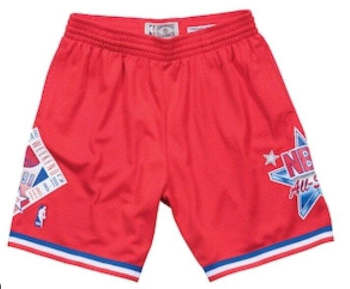 NBA 1991 All Star Red Swingman Shorts Men's by Mitchell & Ness