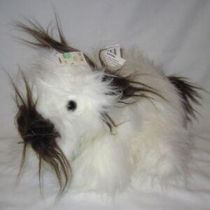Vtg-14-034-Target-Hairy-White-Brown-Puppy-Dog-Plush-Stuffed-Animal-Dayton-Hudson