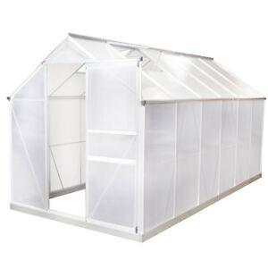 gew chshaus aluminium 11 6m mit fundament fr hbeet treibhaus tomatenhaus alu ebay. Black Bedroom Furniture Sets. Home Design Ideas