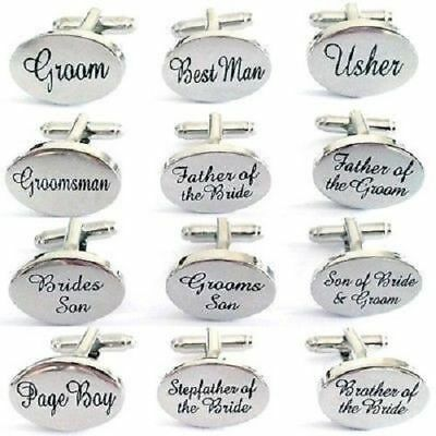 Select Gifts Brother of The Groom Wedding Cufflinks Silver-Tone Engraved Cufflinks Box Optional