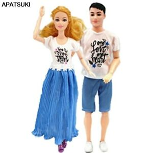 """2sets//lot Blue Couple Lover for 11.5/"""" Doll Outfits Clothes for Ken Boy Doll Toy"""