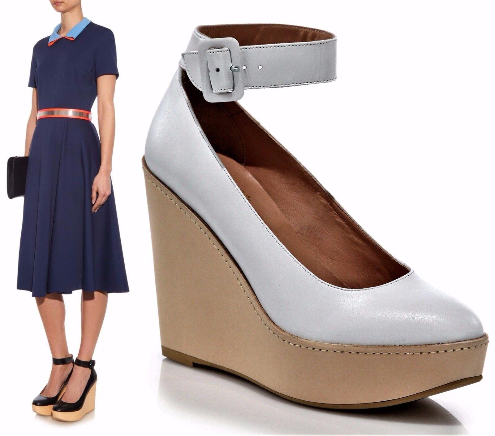 nuovo stile ROBERT CLERGERIE scarpe FERDIE PLATFORM WEDGE ANKLE ANKLE ANKLE STRAP PUMP NEW  750 bianca 39  negozio online