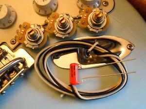 taot strat basic wiring kit cts pots 022 orange drop cap gavitt cloth wire ebay. Black Bedroom Furniture Sets. Home Design Ideas
