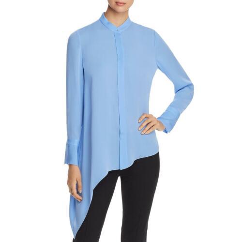 Elie Tahari Womens Asymmetric Collared Shirt Blouse Top BHFO 3412