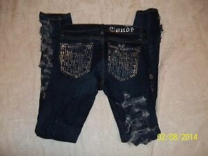 21 Forever By Froize Shredded 27 Jeans 162 Conde Foil 99 W Ret Nwt 7PqFAF