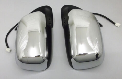 2005+ Pair Door Mirror Chrome Electric For Hilux 2.5TD MK6 Pick Up 3.0TD