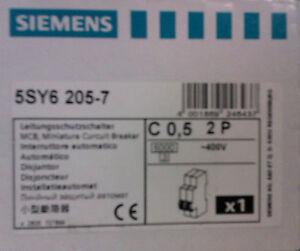 SIEMENS C 20A 2pol Sicherungen Sicherungsauto<wbr/>maten 5SY7 520-7