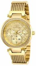 Invicta Women's Angel 28918 Quartz Gold Dial Crystal Gold Woven Strap Watch