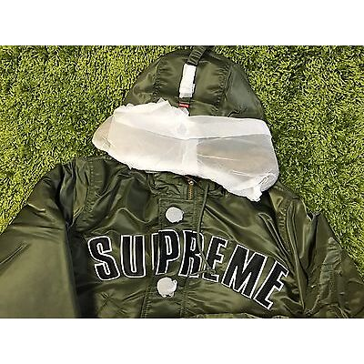 Supreme F/W 2016 Arc Logo N-3B Parka Jacket Box Logo Sage Green S M L