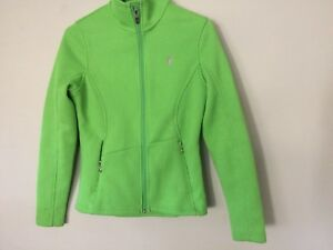 WOMENS-LIGHTLY-WORN-SPYDER-GREEN-CABLE-KNIT-CORE-ZIP-UP-SWEATER-JACKET-SIZE-S-P