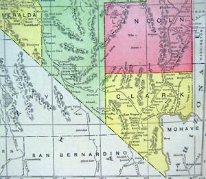 image is loading nevada atlas map page 1916 wwii vintage rand