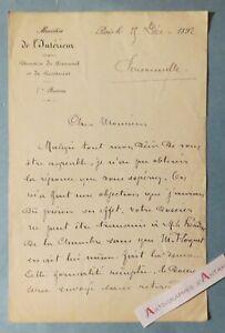 Lot-2-L-A-S-Ministere-Interieur-1892-amp-1893-President-Emile-LOUBET-cite-lettre
