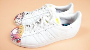Adidas-Superstars-Superstar-Pharrell-Williams-White-Trainers-Shoes-UK-8-5-ExCon