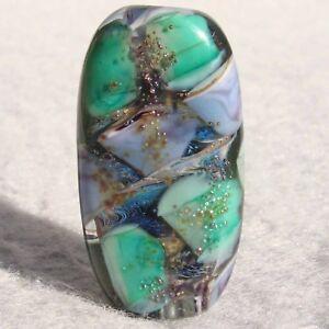 QUARRY Handmade Art Glass Focal Bead Flaming Fools Lampwork Art Glass SRA