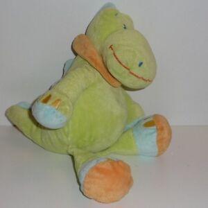 Doudou-Crocodile-Kiabi-Nicotoy-Vert-Foulard-orange