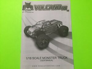 Redcat Racing Volcano 18 V2 Owners Manual Ebay