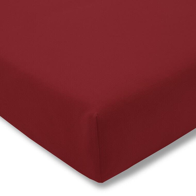 Estella Zwirn Jersey Spannbetttuch Spannbettlaken 6900 Farbe  kirsch 440