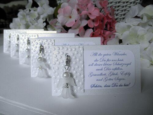 Schutzengel Anhänger Gastgeschenk Tischkarten Hochzeit Taufe Kommunion Nr 67