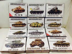 ARMOURFAST-20MM-1-72-SCALE-GERMAN-USA-TANKS-model-Kits-X24-Joblot-24