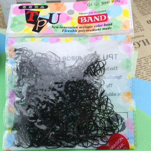 400-500 Pcs Elastic Hair Band Ponytail Holder Rubber Rope For Kids Girls NIES