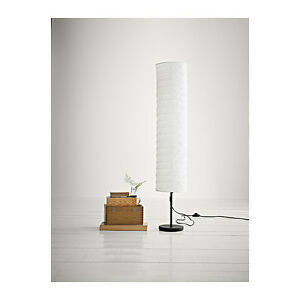 Ikea holmo tall white floor lamp uplighter reading light black base la imagen se est cargando ikea holmo blanca alta lampara de pie blanca aloadofball Images