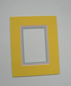 Picture Frame Double Mat 8x10 For 5x7 Photo Yellow With