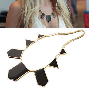 New-HOT-Enamel-Geometric-Figure-Triangle-Necklace-clothes-Womens-Girls