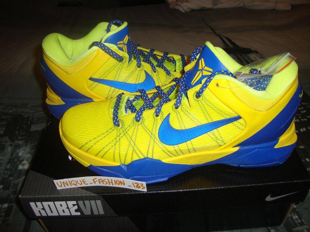 2012 NIKE KOBE VII 7 FC Barcelone BARCA Home Away Jaune Chaussures de sport pour hommes et femmes