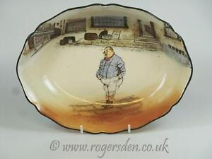 Royal-Doulton-Dickens-Ware-Series-Ware-The-Fat-Boy-Large-Oval-Bowl-D-1973