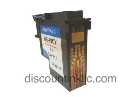 Reman HP 80 Cyan Printhead C4821A Designjet Printers 1050c Plus1055cm 1055cm