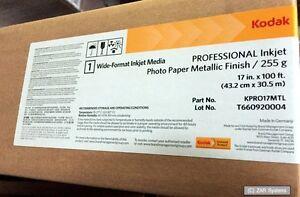 Kodak-KPRO-17mtl-Pro-INKJET-METALLIZZATO-carta-fotografica-255g-43cm-x-30-5m-NUOVO