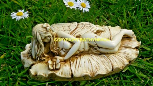 NEW RUBBER LATEX MOULD MOULDS MOLD TO MAKE FAIRY FAERIE ON LEAF SLEEPING H