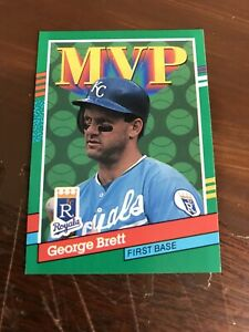 George Brett Kansas City Royals Assorted Baseball Cards 5 Card Lot