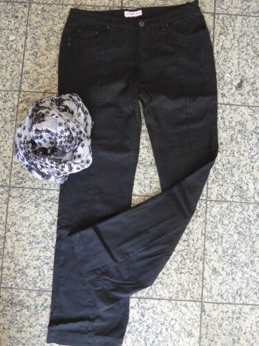 422 40 mit Beinnaht Schwarz NEU Sheego Stoffhose Hose Jeans Gr