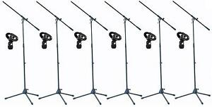 6-St-ADAM-HALL-Mikrofonstativ-mit-Mikrofonklammer-Mikrofonstaender-Stativ-NEU