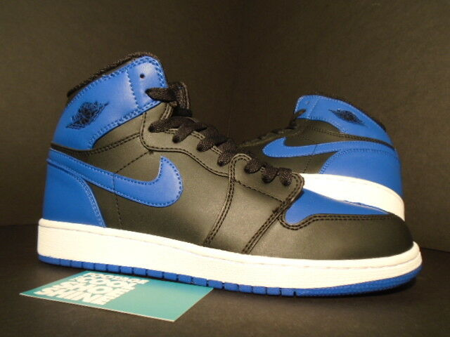 Nike air jordan - retro 'alto og g nero di razza bianca 575441-080 blu royal 7y 7