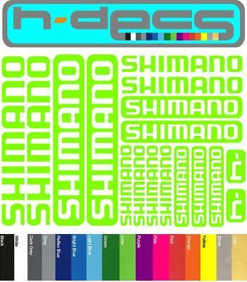 Shimano T1 Die-cut decal sheet. stickers, cycling, mtb, bmx, road, bike