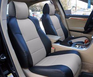 ACURA TL BLACKGREY LEATHERLIKE CUSTOM FRONT SEAT COVER - Acura tl seats