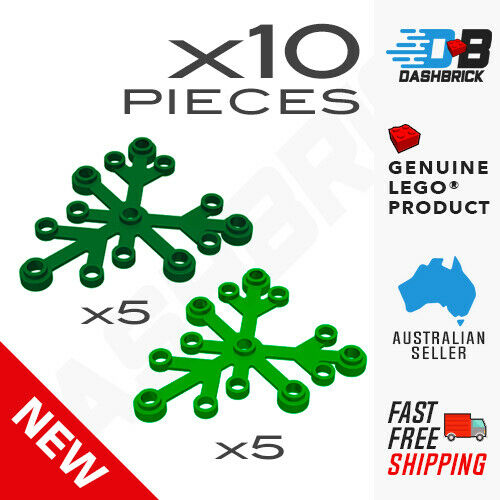Combo 10 x Genuine LEGO® Plant Leaves 6 x 5 Brand New Parts Part 2417