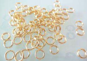 bracelet 100 Anneaux de jonction Doré 6 mm ouvert 6mm creation bijoux Dore ..