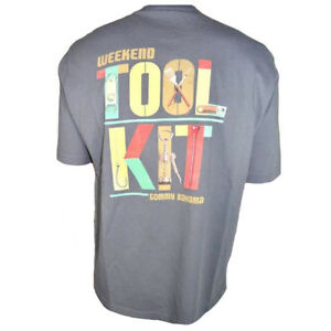 TOMMY-BAHAMA-Men-039-s-T-Shirt-Grilling-BBQ-Tee-SIZE-SMALL-WEEKEND-TOOL-KIT-Gray-NEW