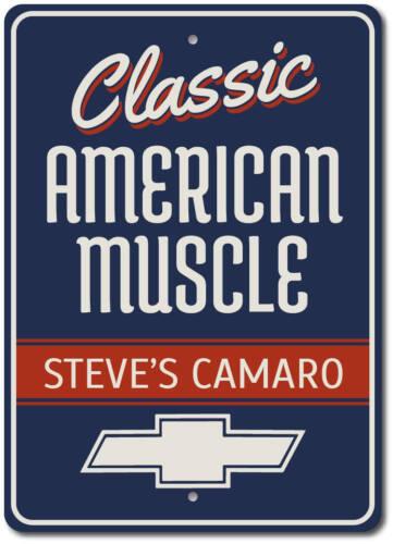 Custom Chevy Sign ENSA1002697 Classic Camaro Sign Camaro Gift