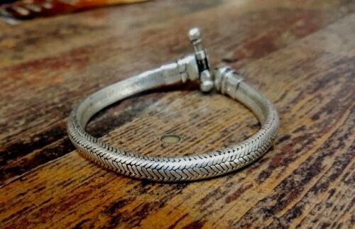 Pulsera de cadena de plata para hombre 925 Plata Serpiente