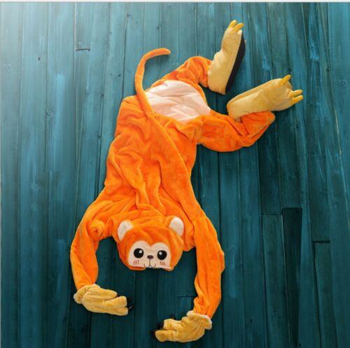 Pigiama kigurumi intero tuta carnevale feste donna animali scimmia party